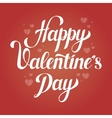 Saint Valentines day love poster with hearts vector image vector image