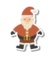 santa claus christmas character isolated icon vector image