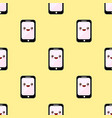 seamless pattern smartphone cartoon characters vector image