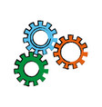 set gear wheel cog cooperation teamwork concept vector image vector image
