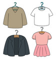 set of clothes hanger vector image