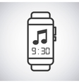 smartwatch wearable technology icon vector image