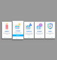 sunscreen onboarding elements icons set vector image