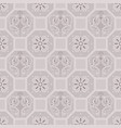 taupe floor tiles ornament pattern print vector image vector image