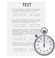 Test exam vector image