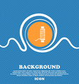 Thread Icon sign Blue and white abstract vector image vector image