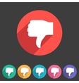 Thumbs down dislike icon flat web sign symbol logo vector image vector image