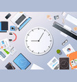 time management deadline business timing concept vector image vector image