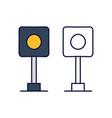 traffic light railway stock icon element train vector image vector image