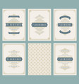 vintage ornament greeting cards set vector image vector image
