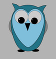 wise blue owl vector image vector image