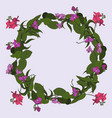 wreath of delicate orchids vector image