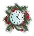 xmas clock vector image vector image