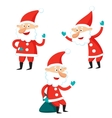 Cartoon Santa Claus isolated on white background vector image
