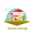 eco house solar wind energy green energy concept vector image