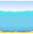 Underwater seamless landscape cartoon background vector image