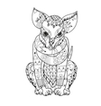 Hand drawn doodle outline chihuahua dog boho vector image