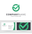 Logo and business card template in flat style vector image