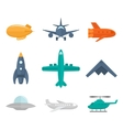 Aircraft Icons Flat vector image