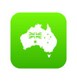 australia icon digital green vector image
