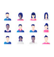 avatar set group working people diversity vector image vector image