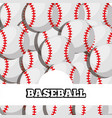 baseball balls sport background design vector image