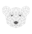 bear head low poly isolated icon vector image vector image