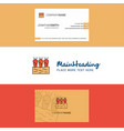 beautiful carrots farm logo and business card vector image vector image