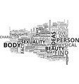 beauty as a sexual object text word cloud concept vector image vector image