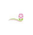 beauty flower decoration logo vector image vector image