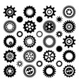 black gear wheels vector image