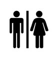 black toilet icon on white background vector image vector image