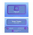 blue purple business card vector image vector image