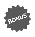 bonus sign icon simple vector image vector image