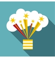 Bright firework icon flat style vector image vector image