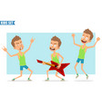 cartoon flat funny sport boy character set vector image