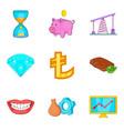 cheap money icons set cartoon style vector image