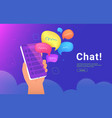 community announcement or group chat mobile app vector image