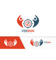 compass and people logo combination vector image vector image