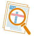 concept tax audit vector image