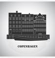 copenhagen denmark old european city icon vector image vector image