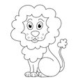 Curly cartoon lion with fluffy mane and kind vector image