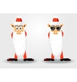 cute santa claus with long beard vector image