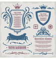 Decorative elements for text vector image