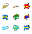 dialog speech bubbles icons set cartoon style vector image vector image