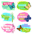 discount offer super choice big spring sale prices vector image vector image