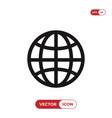 earth grid icon web symbol vector image vector image