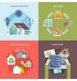 Energy Saving House Flat vector image