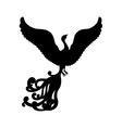 Fantasy bird silhouette vector image vector image