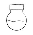 figure erlenmeyer flask to scientific experiment vector image vector image